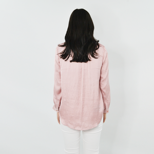 Womens Nic + Zoe Destination Popover Top in Rose - Brother's on the Boulevard