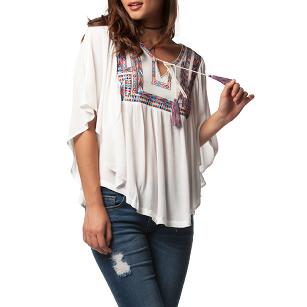 Womens PPLA Quest Woven Top in Ivory - Brother's on the Boulevard