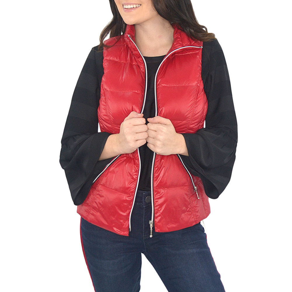 Womens My Anorak Hot Puffer Vest in Chilli - Brother's on the Boulevard