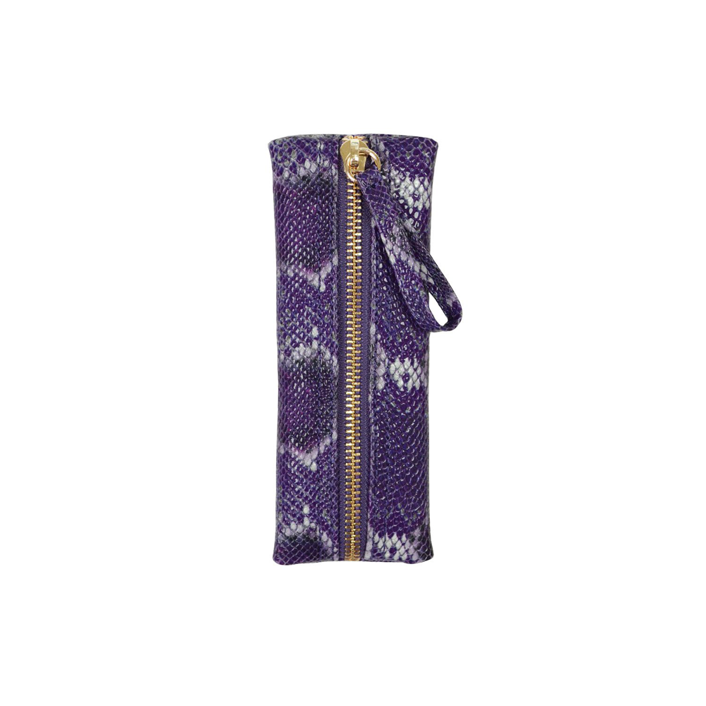 Womens Kelly Wynne Privacy Pouch in Purple Multi Python - Brother's on the Boulevard