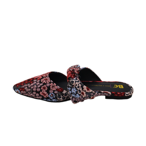 Womens BC by Seychelles Quarter Tie Top Mule in Black Floral - Brother's on the Boulevard