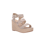 BC Footwear by Seychelles Snack Bar Multi Strap Wedge in Natural Exotic