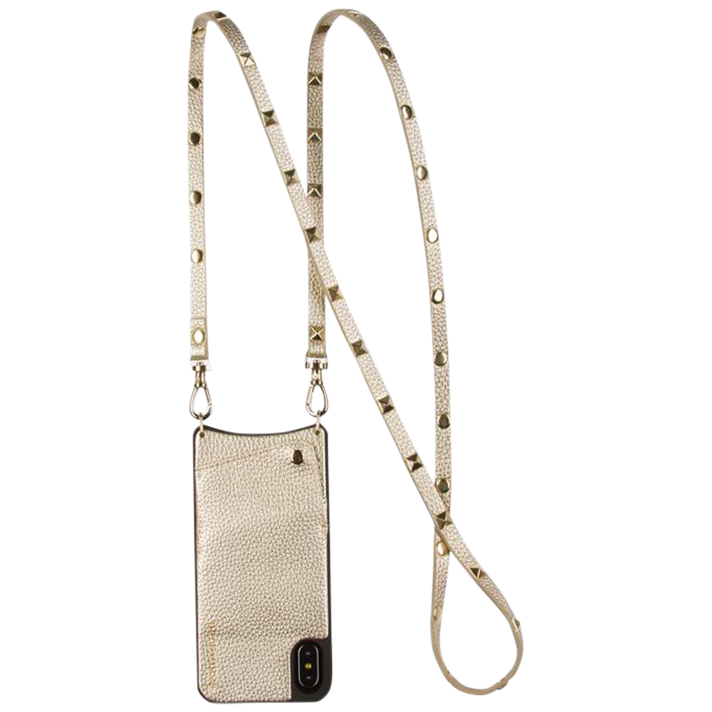 Womens Bandolier Sarah Pebble Crossbody iPhone Case in Gold - Brother's on the Boulevard