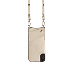 Bandolier Sarah Pebble Crossbody iPhone Case in Gold