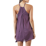 Womens Shilla Lustre Layered Mini Dress in Dusty Purple - Brother's on the Boulevard