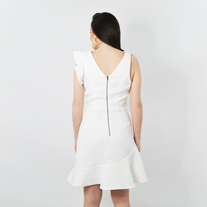 Womens Shilla Aspire Ruffle Dress in White - Brother's on the Boulevard
