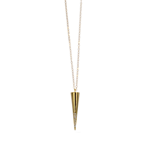Womens Sincerely Mary CZ Pendant Necklace in Gold - Brother's on the Boulevard