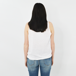 Womens Sisters Linen Tank in White - Brother's on the Boulevard