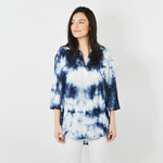 Sisters Tie Dye Blouse in Blue