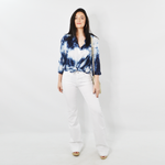 Womens Sisters Tie Dye Blouse in Blue - Brother's on the Boulevard