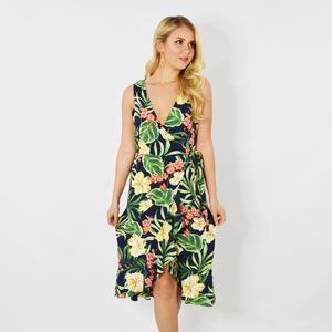 Womens Rouge Midi Wrap Dress in Jungle - Brother's on the Boulevard
