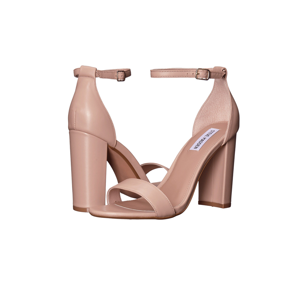 Womens Steve Madden Carrson Strappy Heel in Blush - Brother's on the Boulevard