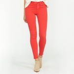 Hudson Jeans Nico Midrise Super Skinny in Cherry