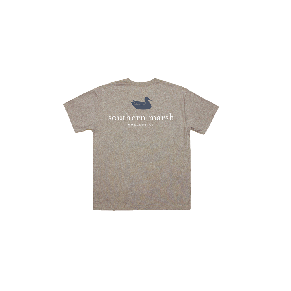 Southern Marsh Youth Authentic Heather Tee in Washed Burnt Taupe