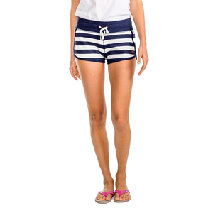 Womens Southern Tide Jodie French Terry Stripe Short in White and Navy - Brother's on the Boulevard