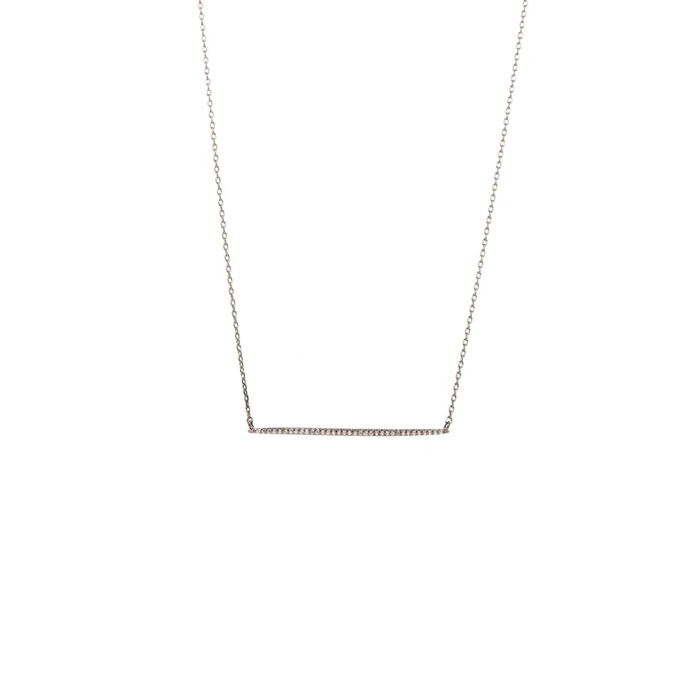 Womens Theia Jewelry Single Bar Gunmetal Necklace - Brother's on the Boulevard