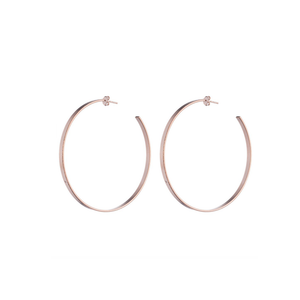Womens Sheila Fajl Thin Flat Hoop Earring in Rose Gold - Brother's on the Boulevard