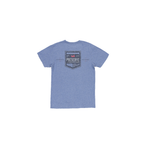 Southern Marsh Youth Southern Tradition Crest Tee in Washed Slate