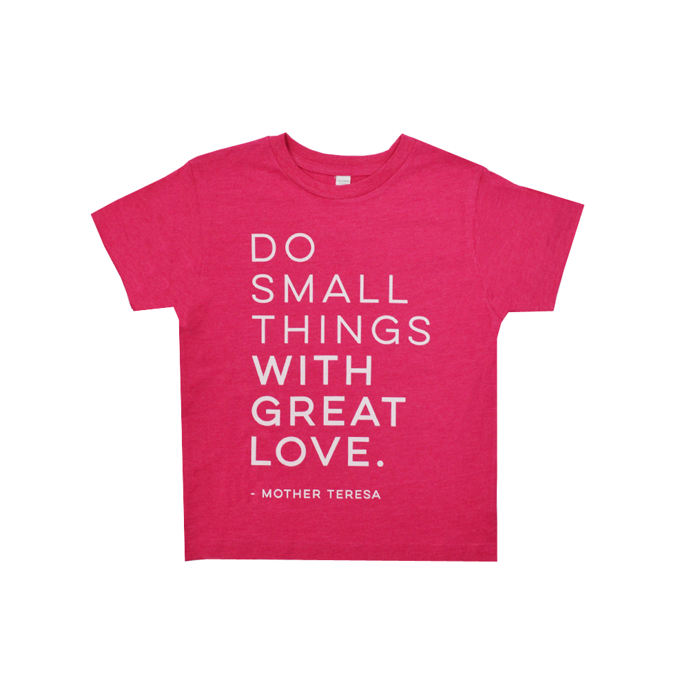 "Ruby's Rubbish Girls ""Mother Teresa"" Tee in Heather Berry"