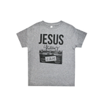 "Tween Girls Ruby's Rubbish Kids ""Jesus is my Jam"" Tee in Heather Grey - Brother's on the Boulevard"