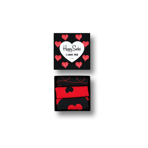 Mens Happy Socks I Love You Gift Box in Red and Black - Brother's on the Boulevard