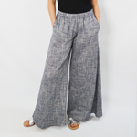 NYLA Plumeria Wide Leg Pant in Navy Blue