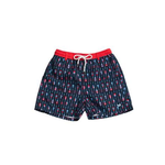 Mens Southern Marsh Paddles Dockside Swim Trunk in Navy and Red - Brother's on the Boulevard