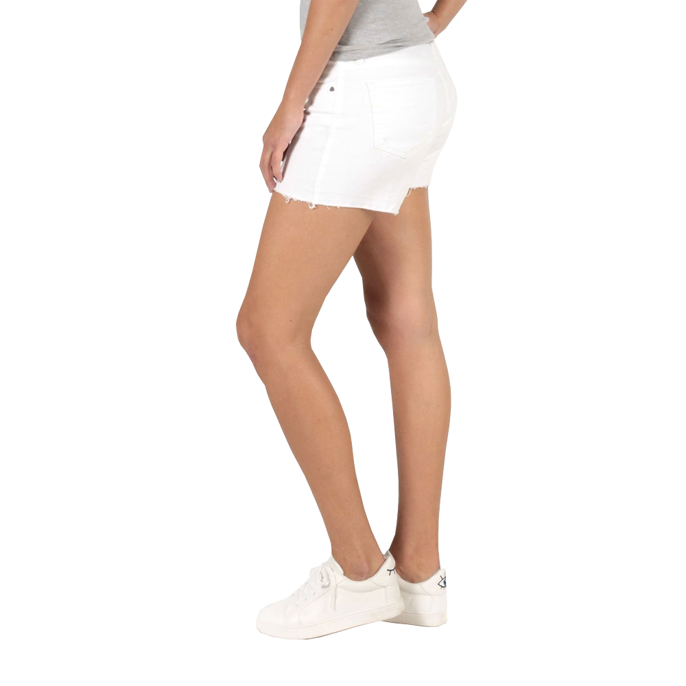 Womens Kut from the Kloth Andrea Denim Shorts in Optic White - Brother's on the Boulevard