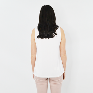 Womens Nic + Zoe Chill Out Tank in White - Brother's on the Boulevard