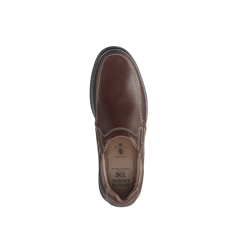 Mens Johnston & Murphy Windham Mock Venetian Loafer in Oak - Brother's on the Boulevard