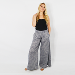 Womens NYLA Plumeria Wide Leg Pant in Navy Blue - Brother's on the Boulevard