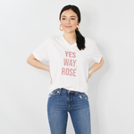 "Rouge ""Yes Way Rose"" Tee in White"