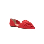 BC Footwear Snow Coned Bow Top Flat Faux in Red