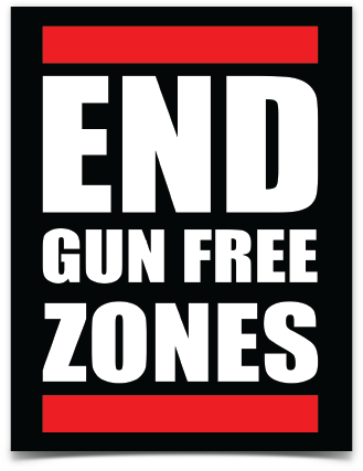 End Gun Free Zones Sticker