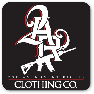 """2AR Clothing Co."" Black Sticker"