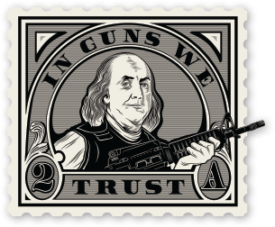 In Guns We Trust Sticker