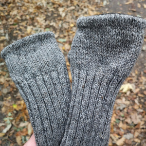Plain Woolen Knitted Fingerless Mitts