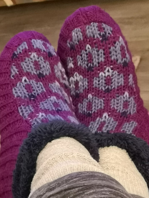 Pattern Knitted Slipper Socks