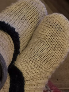 Plain Knitted Slipper Socks