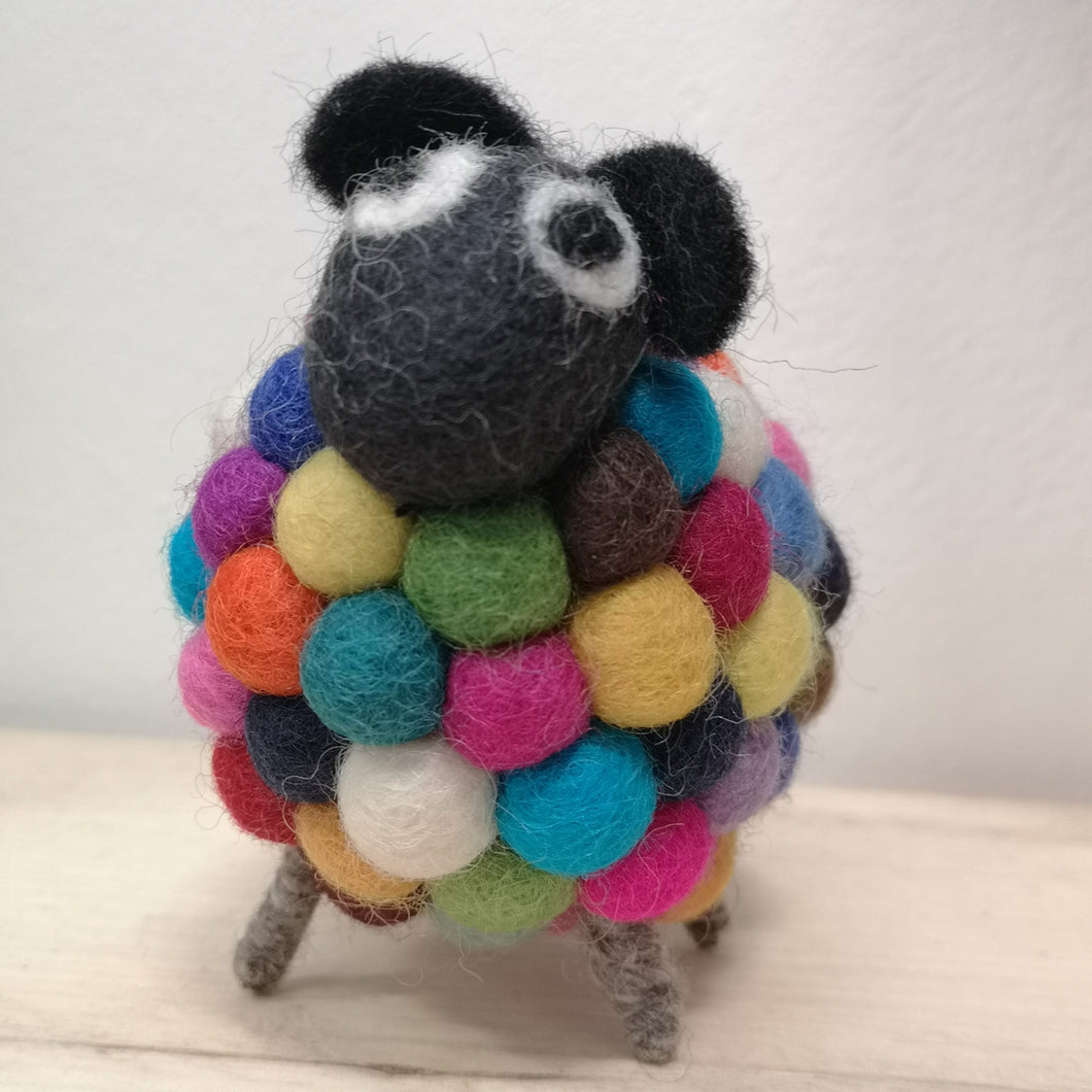 Felted Pom Pom Sheep