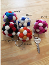 Load image into Gallery viewer, Felt Pom Pom Keyrings