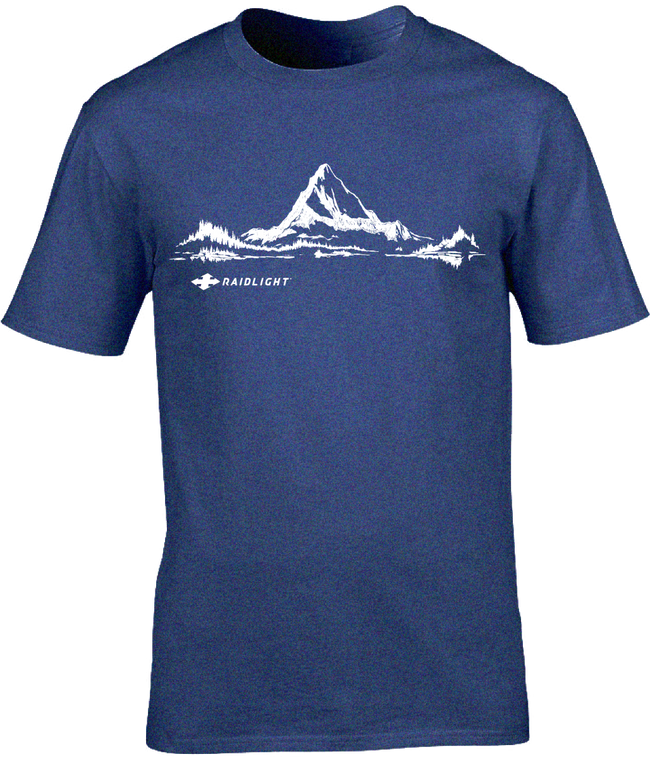MOUNTAIN MENS T-SHIRT - DARK BLUE