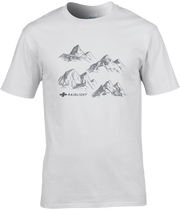 CHARCOAL MOUNTAINS WHITE T-SHIRT - WHITE