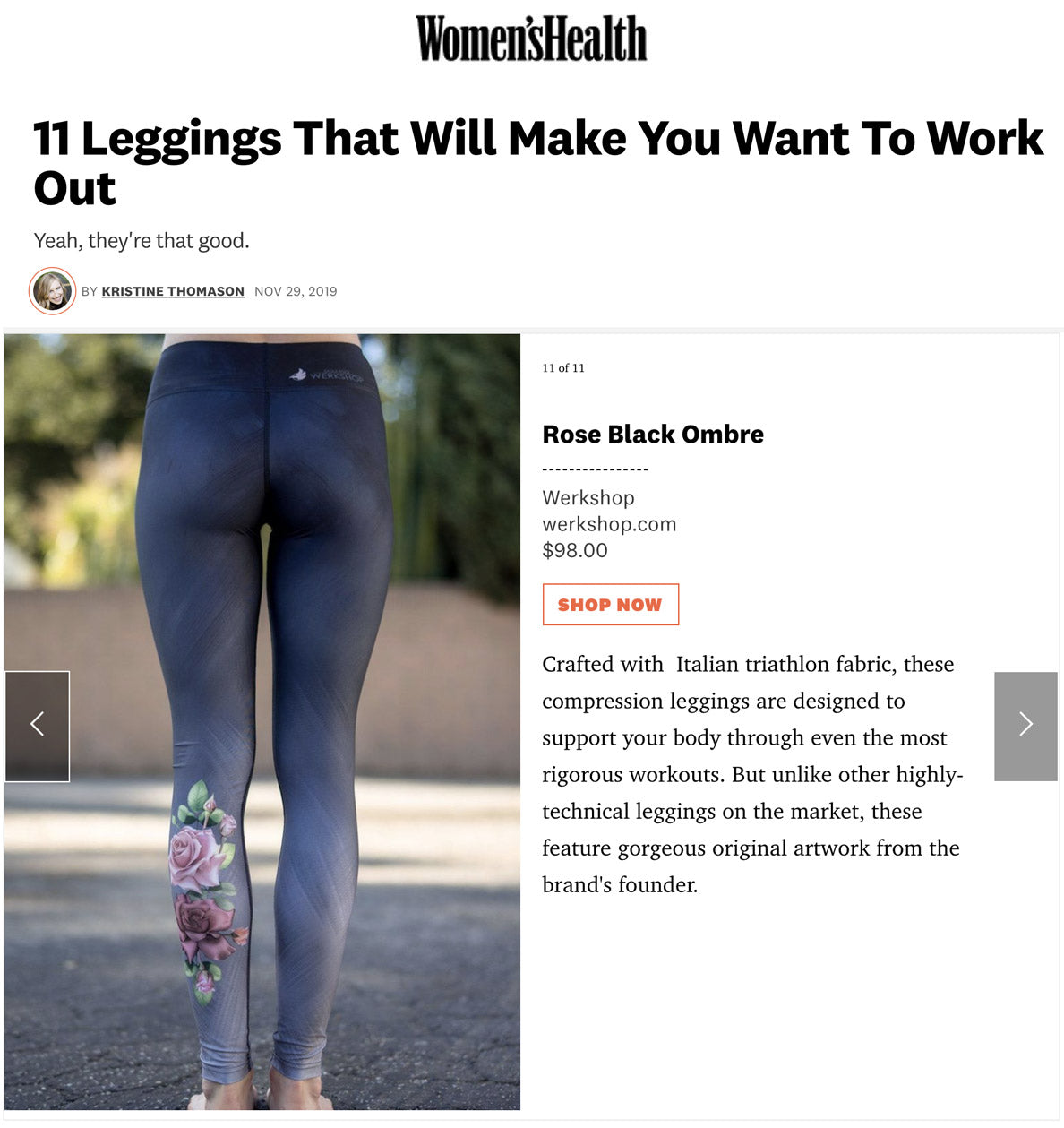 11 Leggings that will make you want to work out: featuring WERKSHOP Black Rose Ombre Leggings