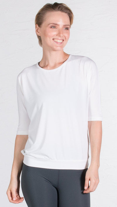 WERK - the Open Back Dolman - White
