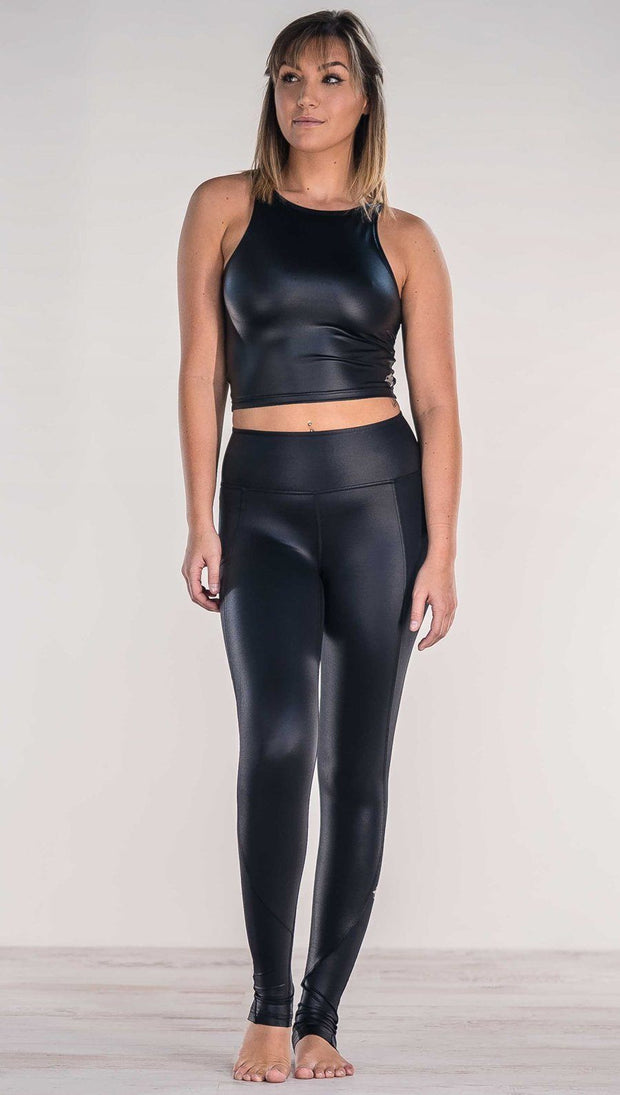 Black - Full Length Luster Leggings