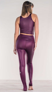 Eggplant - Full Length Luster Leggings