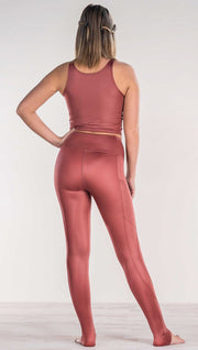 Mauve - Full Length Luster Leggings