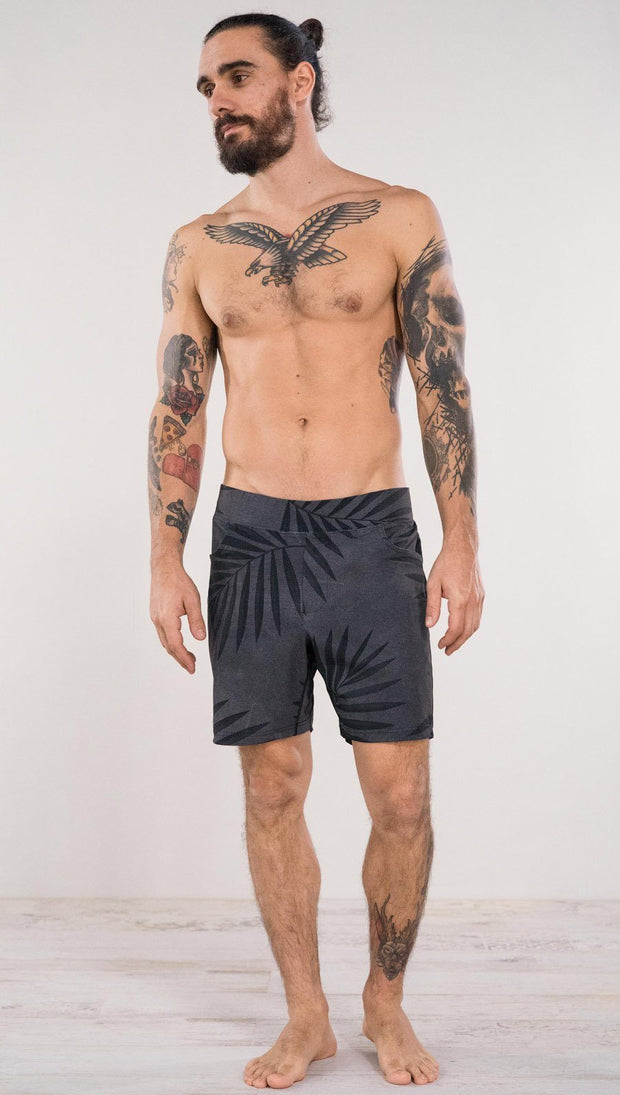 "Men's - Gray Palms Shorts 7"" Inseam"