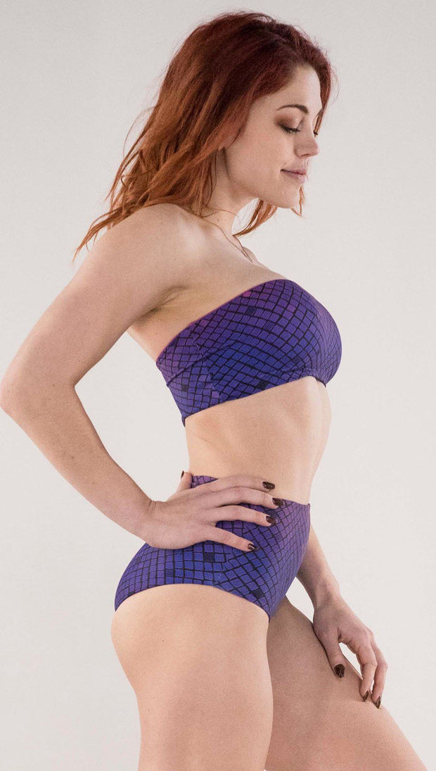 Rainbow Mosaic High Waist Bottom - Reversible